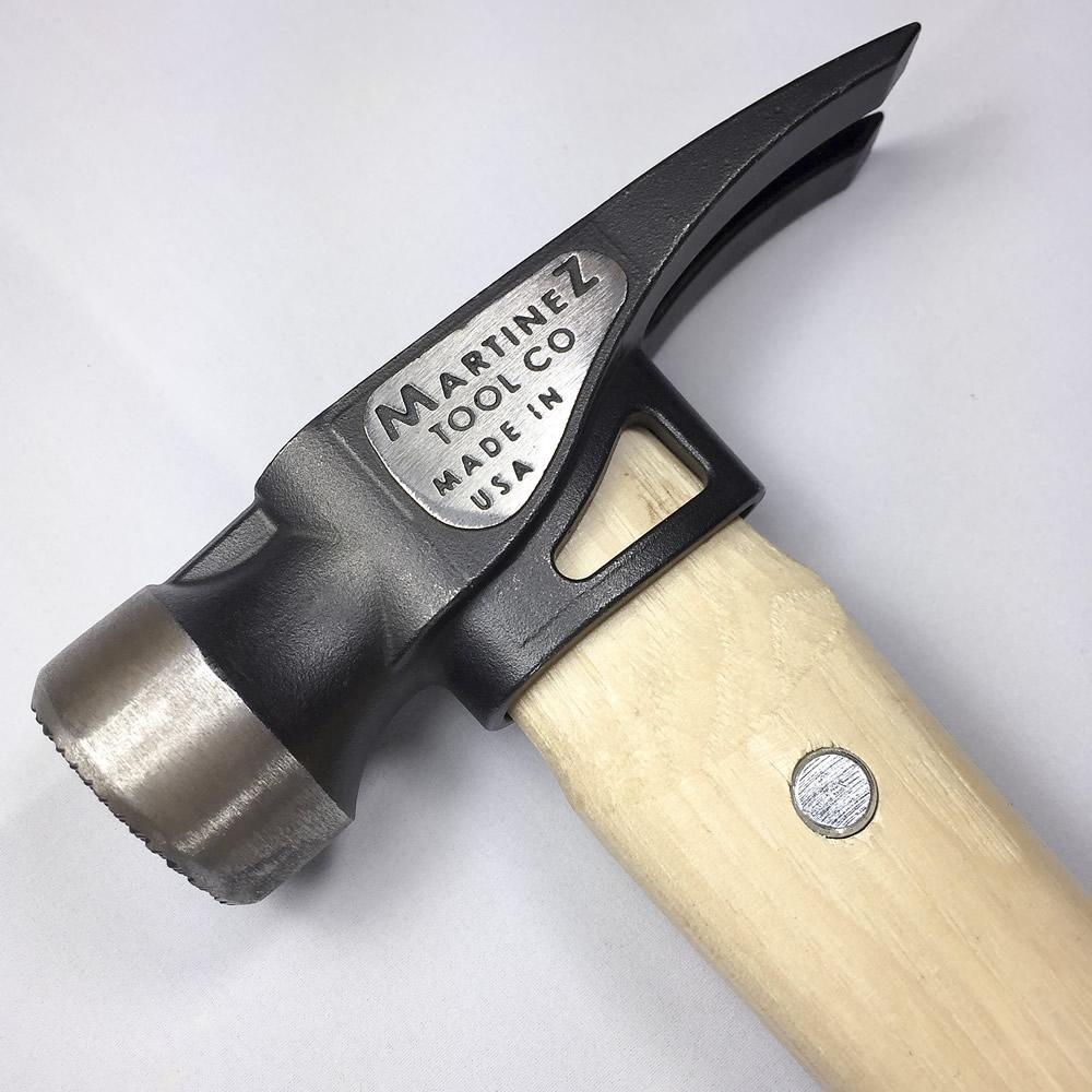 martinez tools 19oz wood handle steel head framing hammer